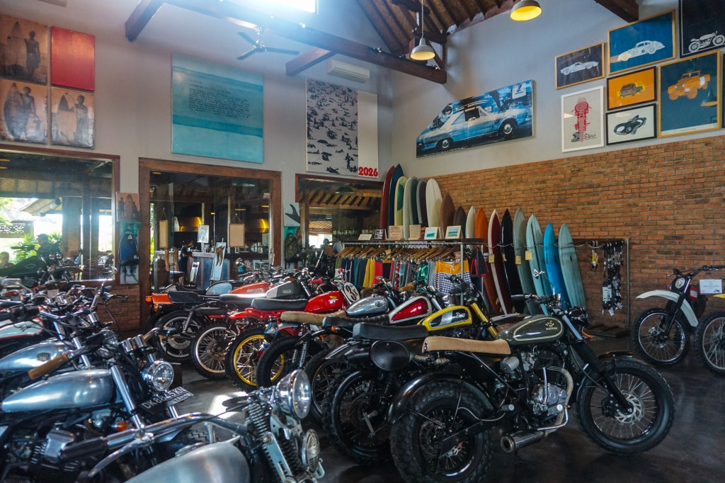 Deus Ex Machina motorcycle and surf shop and restaurant in Canggu, Bali, Indonesia