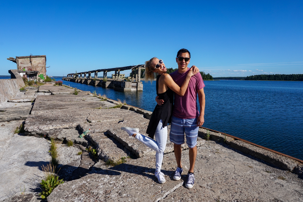 Abandoned Hara military submarine station in Estonia