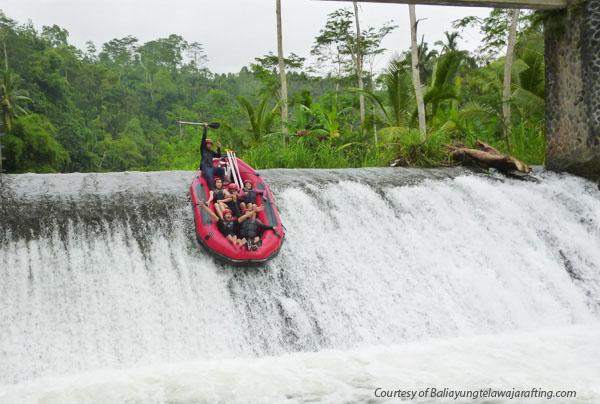 Telaga Waja white river rafting in Bali, Indonesia