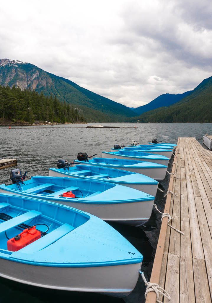 Canoe, kayak and motorboat rentals at Ross Lake Resort in North Cascade National Park