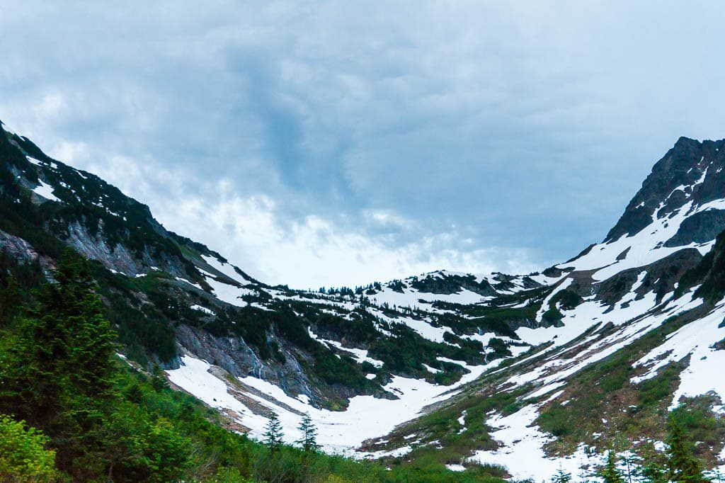 Cascade Pass in North Cascade National Park Washington