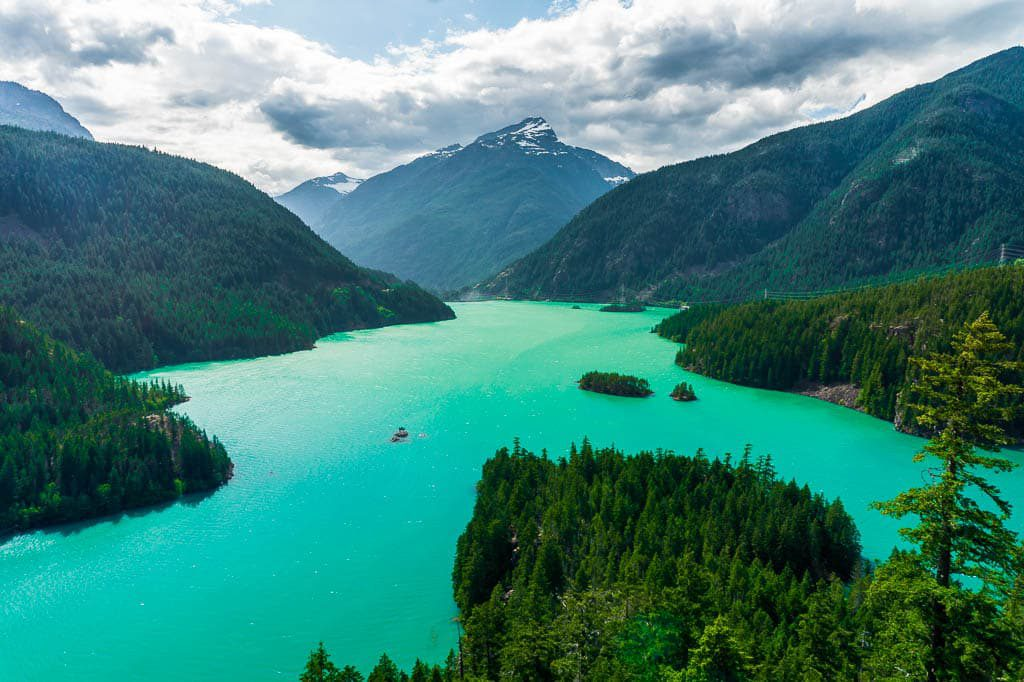 Diablo Lake Vista Point in North Cascade National Park