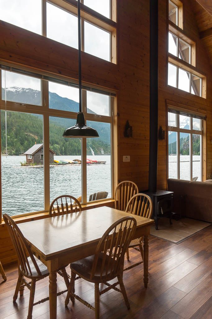 Inside Cabin at Ross Lake Resort in North Cascades National Park