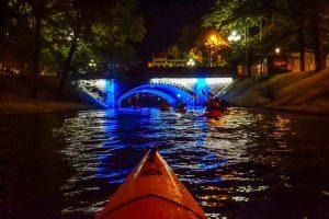 Night Kayaking in Daugavas River Riga Latvia