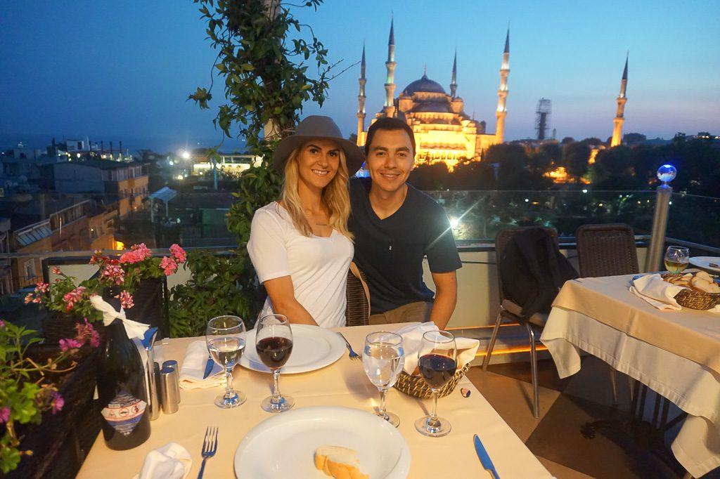Seven Hills rooftop dining Istanbul Turkey