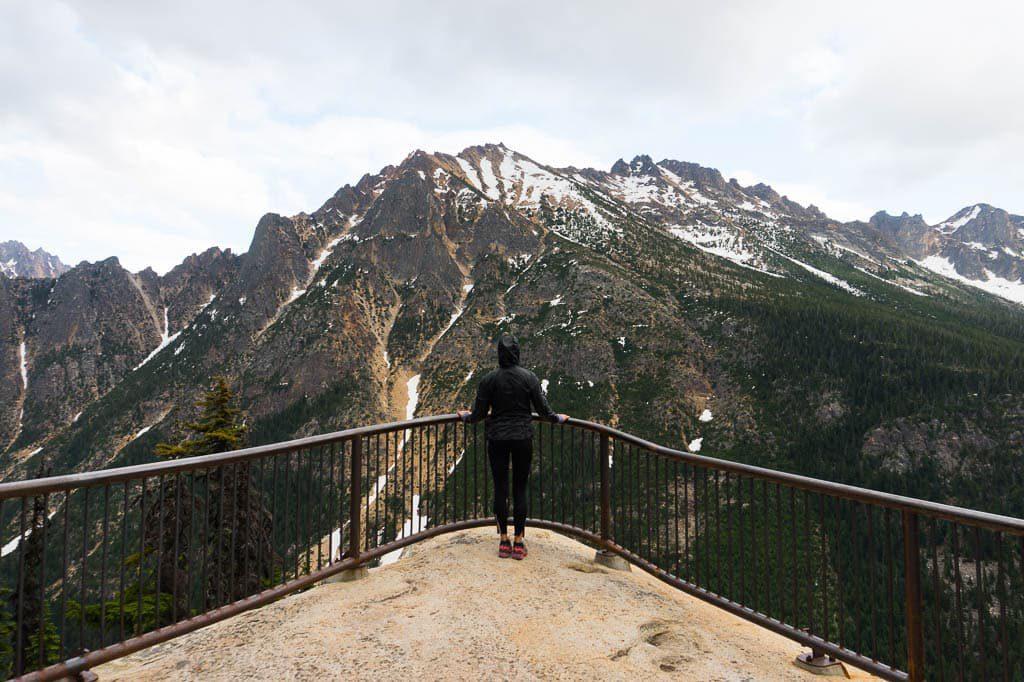 Washington Pass Overlook in North Cascade National Park Washington