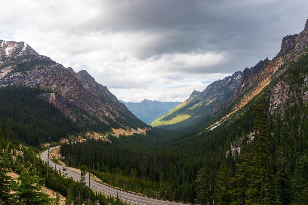 Washington Pass Overlook in North Cascades National Park