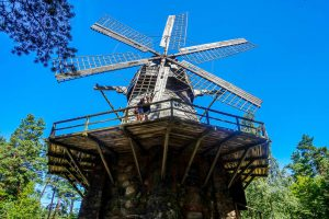 Windmill at Latvian Ethnographic Open Air Museum in Latvia