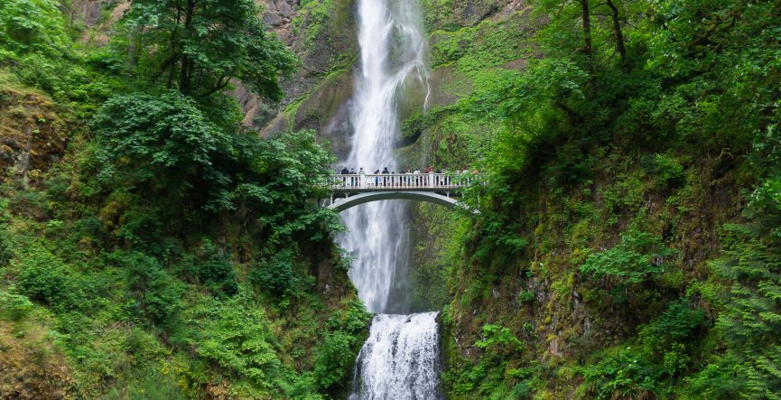 Multnomah Falls Historic Columbia River Highway in Oregon