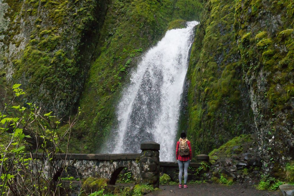 Wakheena Falls Historic Columbia River Highway Oregon