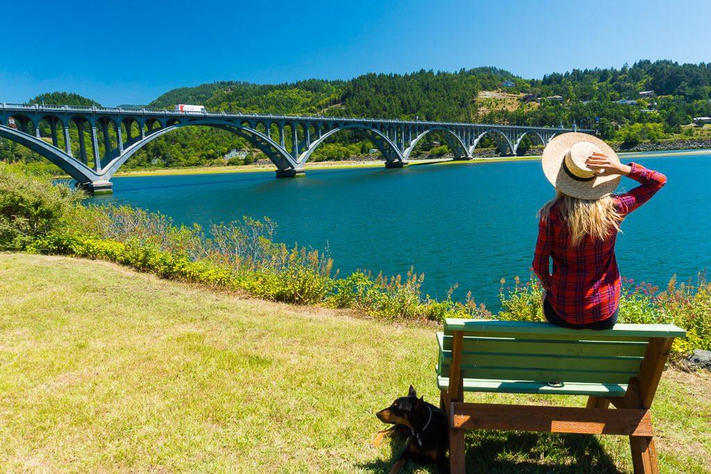 Wedderburn Bridge over Rogue River in Oregon