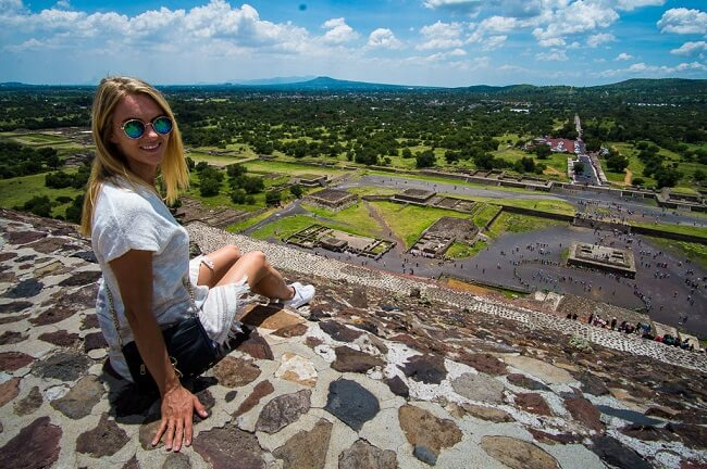 Teotihuacan Pyramid of the Sun Mexico City