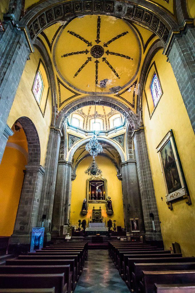 The Saint Veracruz Church - La Santa Veracruz Iglesia - Mexico City