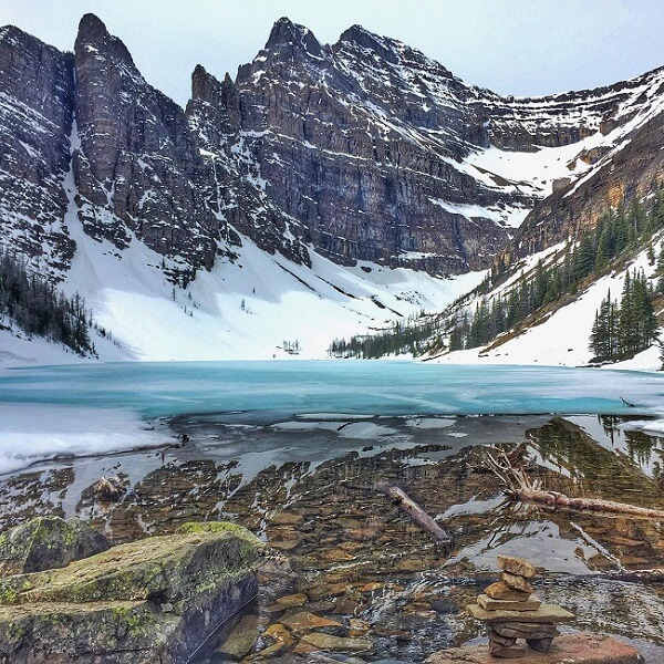 Best Lakes in Canada Lake Agnes Banff National Park photo by bkylie