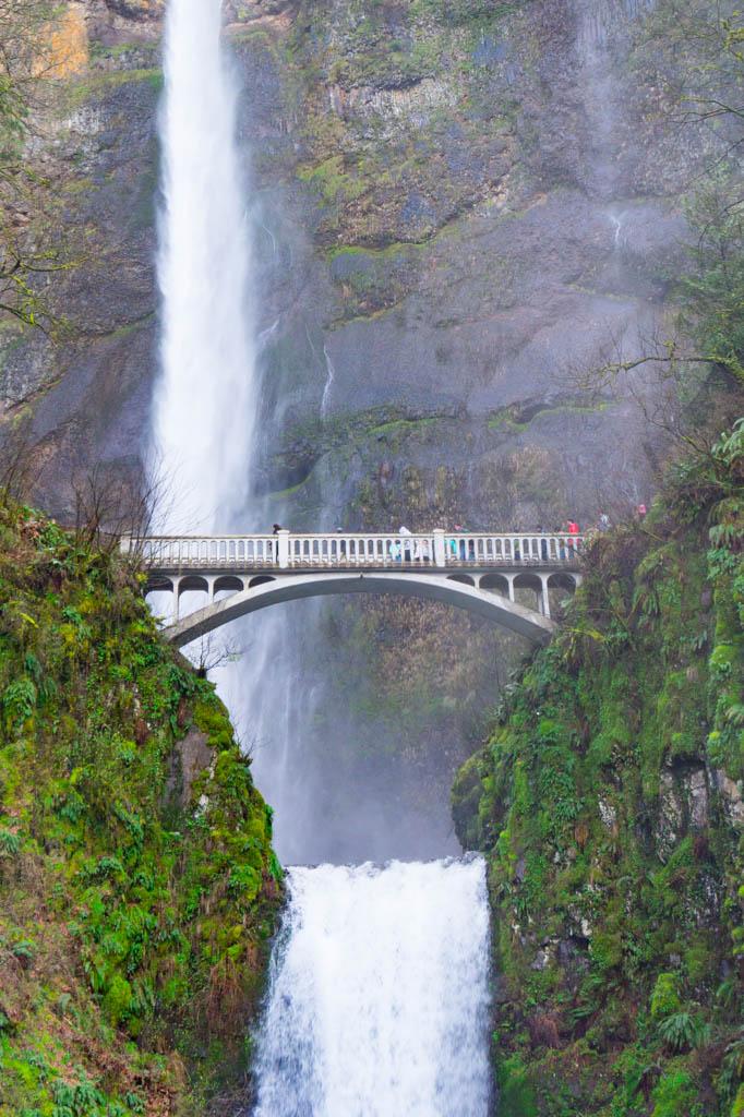 Multnomah Falls in Columbia River Gorge Oregon