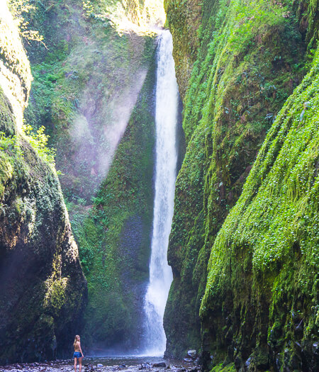 Oneonta Gorge Columbia River Gorge Waterfall Hikes In Oregon