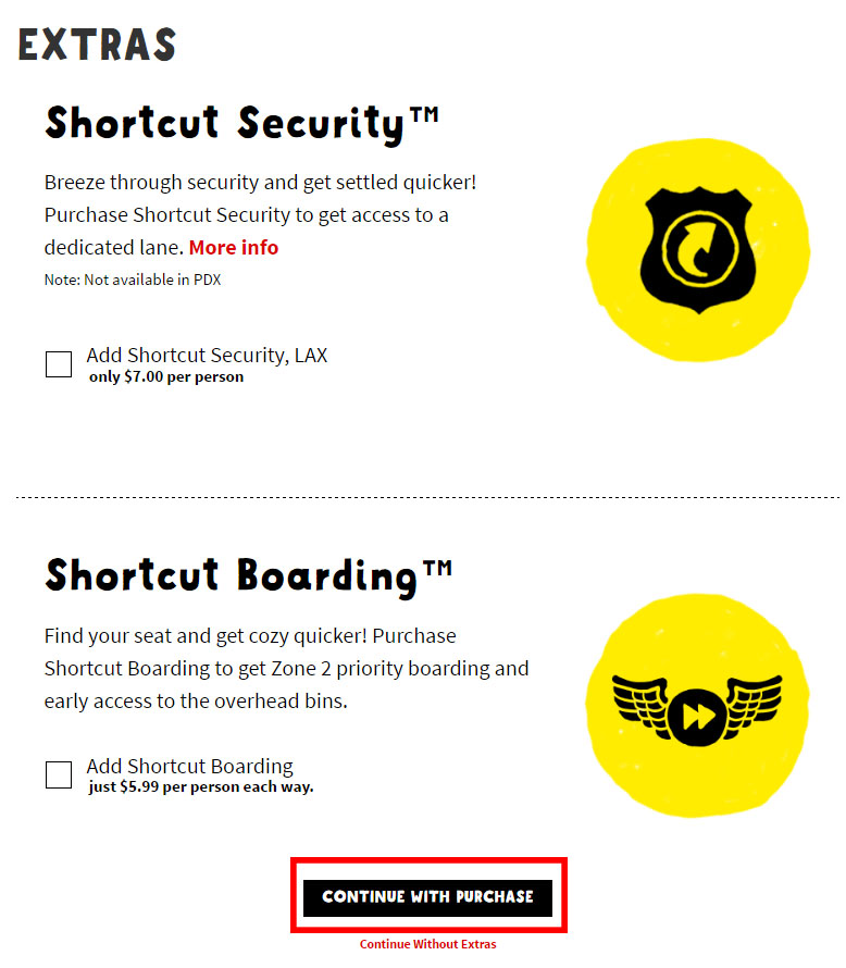 Extra Upsells Spirit Airlines
