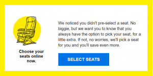 Select Early Seats Spirit Airline