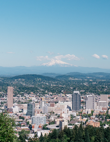 Pittock Mansion view Portland Oregon