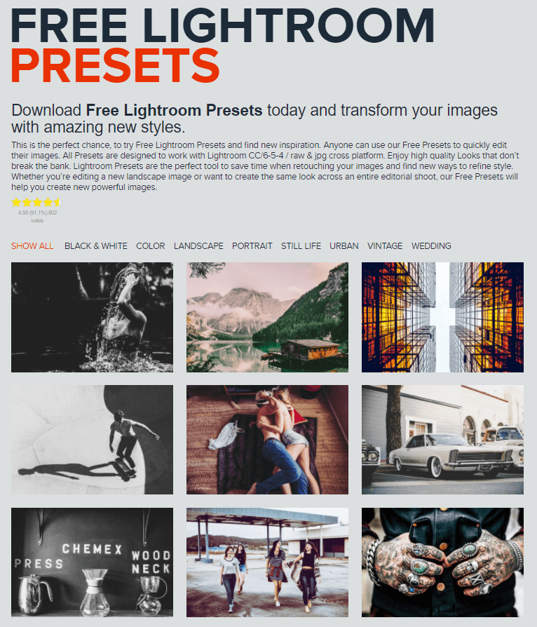 free lightroom presets best nature presets