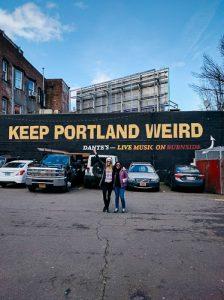keep portland weird sign oregon