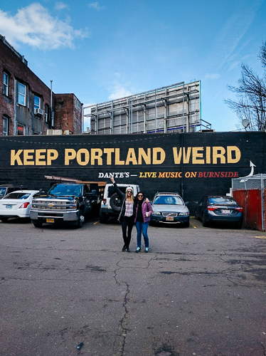 keep portland weird sign oregon