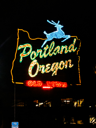 portland oregon historic white stag sign
