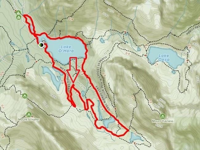All Trails Lake Opabin Plateau viewpoint