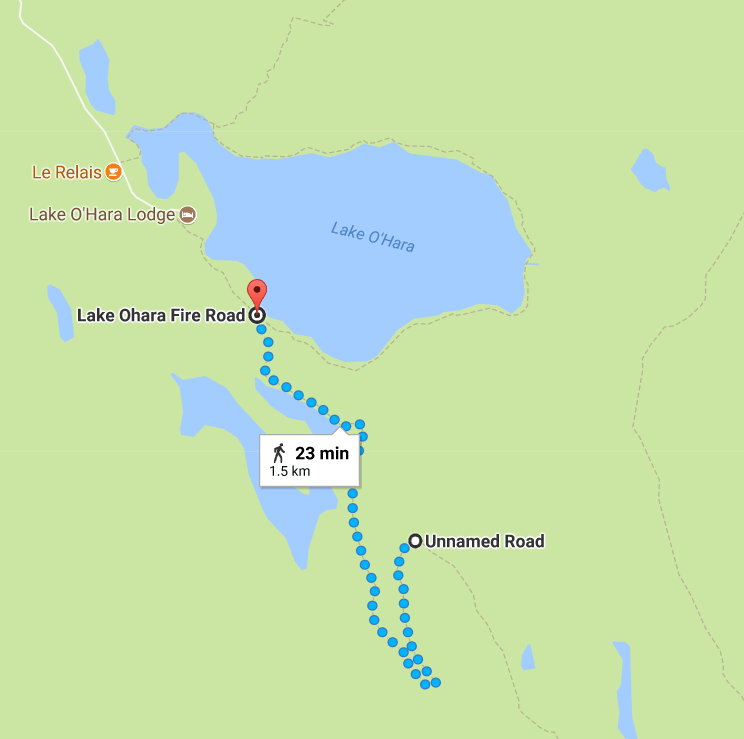 Opibian Prospect hike location and map