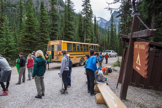 lake O'Hara bus schedule and reservations
