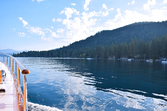 Boat in Lake Tahoe