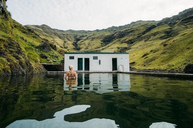 Seljavallalaug Hot Pool southern Iceland hot springs summer