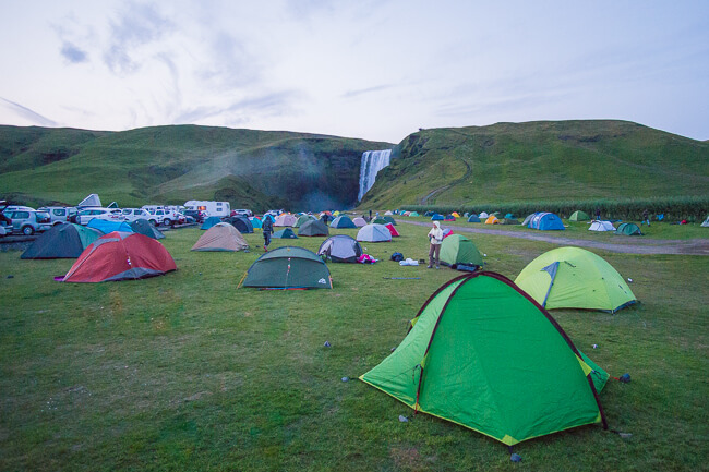 Where to camp at night in Iceland