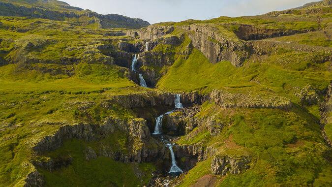 iceland Klifbrekkufossar Waterfall Iceland