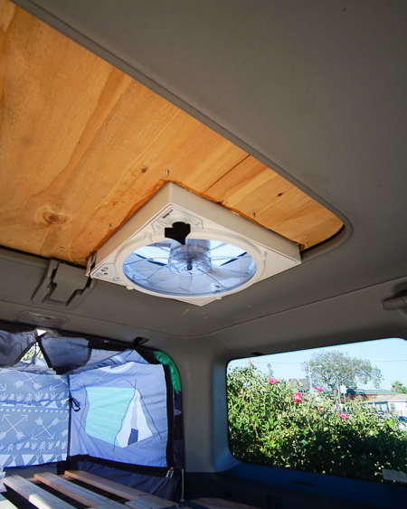 camper car conversion fan