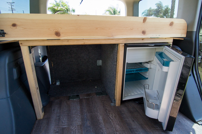 honda element car conversion fridge