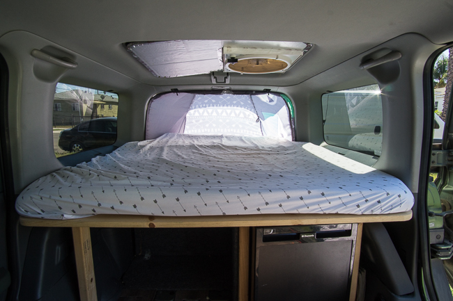 how to convert suv into a camper car