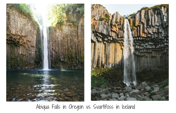 Abiqua waterfall vs Svartifoss in Iceland skip Iceland and head to Oregon Instead