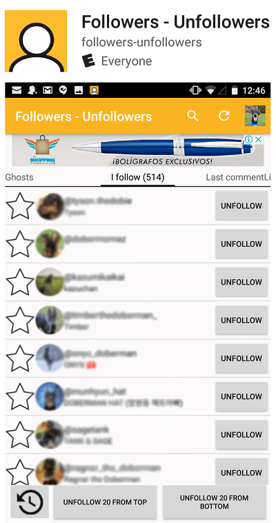 Followers - Unfollowers Best unfollow app for Android