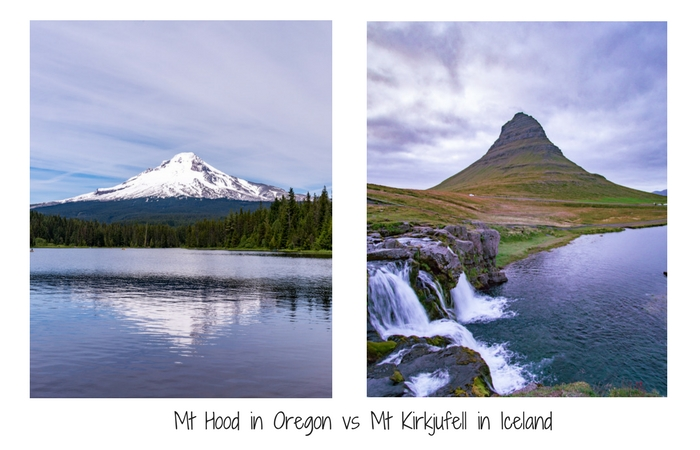 Mt Hood in Oregon vs Kirkjufell in Iceland