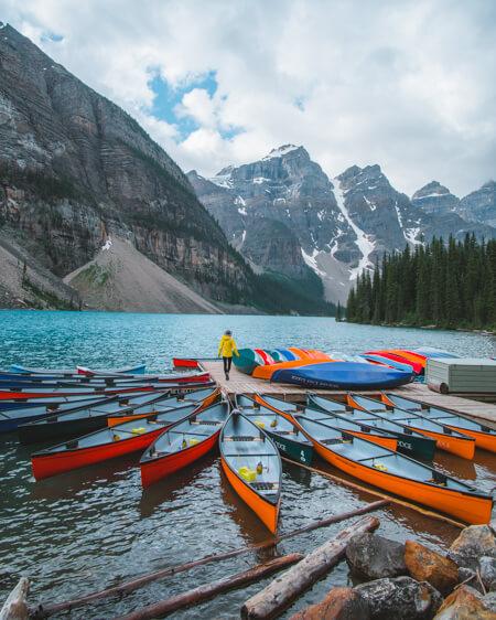 moraine lake canada banff alberta summer