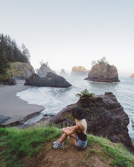 secret beach in oregon coast