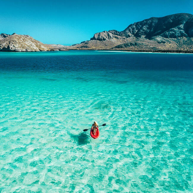 balandra beach in la paz, baja california, mexico