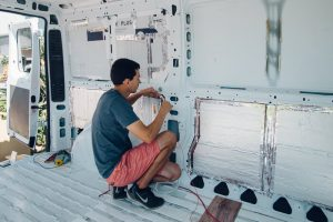 homemade camper van conversion promaster wiring