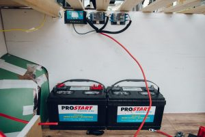 how to install house batteries promaster campervan conversion