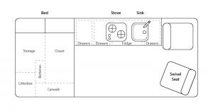 promaster campervan conversion layout plan