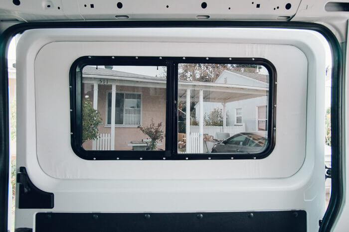 promaster van conversion process windows