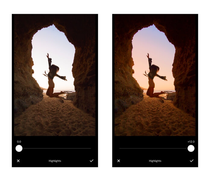 tips for editing photos in vsco app highlights