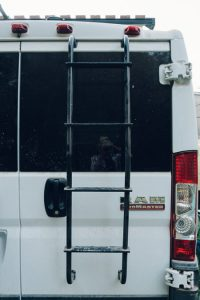 aluminum ladder campervan conversion