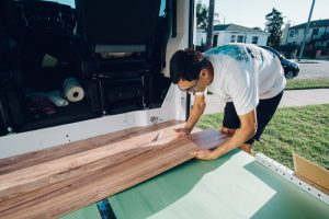 floor installation promaster camper van conversion